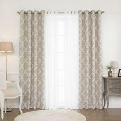 Linden Trellis Grommet Curtain Panel