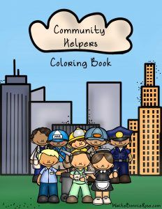 Community Helpers Coloring Book: Thirty-seven coloring pages with large print copywork to trace. Introduce them to the jobs of men and women in the community such as being a firefighter, soldier, police, detective, ranger, construction worker, businesswoman, janitor, doctor, nurse, farmer, judge, lifeguard, mailman, pilot, astronaut, mechanic, oil worker, plumber, teacher, veterinarian, zookeeper, chef, waiter, and more. Limited time freebie.