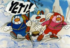 """""""2 koty + 1 pies (W górach)"""" - dir. Leonard Pulchny (1992) #winter #snow #yeti"""