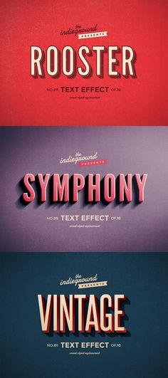 Retro Vintage Text Effects #text #effect #vintage #retro #font
