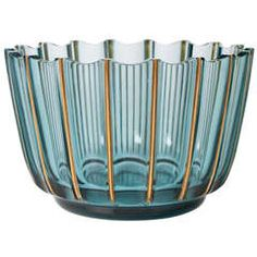 Swedish Art Deco Glass Bowl by Elis Bergh for Kosta Signed
