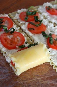 Caprese Lasagna Roll Ups - GORGEOUS!