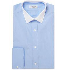 Charvet Contrast Collar Cotton Shirt   MR PORTER
