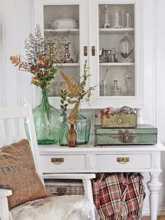 Pretty aqua bottles | VIBEKE DESIGN: First round: Selection of autumn photos!