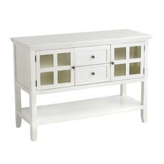Ronan Sideboard - White  TV stand in master bedroom or storage in bathroom