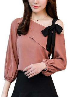 Shop Floryday for affordable Tops. Floryday offers latest ladies' Tops collections to fit every occasion.Buy Tops, Online Shop, Women's Fashion Tops for Sale Women's Fashion Dresses, Diy Fashion, Korean Fashion, Trendy Fashion, Ideias Fashion, Blouse Styles, Blouse Designs, Sleeves Designs For Dresses, Camisa Formal