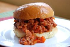 Ground Turkey Sloppy Joes - yum! No one will know its turkey unless you tell them its healthy.