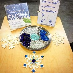 """Using loose parts to make patterns on the snowflakes Reggio Inspired 6 Likes, 1 Comments - Mrs. M Dattilo (@wonderful_wonderings) on Instagram: """"Can you make patterns on the snowflakes? Use the loose parts to decorate and make on the…"""""""