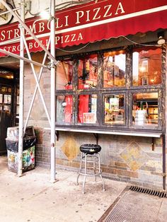 Storefront. Exterior Stromboli Pizza, Local Bars, East Village, Store Fronts, The Locals, New York, Exterior, New York City, Outdoors