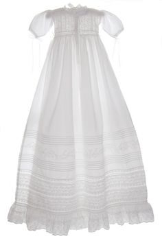 NEW Hearts Delight Victorian Style Christening Gown with Exquisitely Embroidered Lace