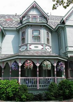 Victorian houses..
