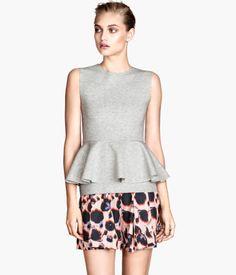 H&M Gray Double Peplum Top $20 LOVE