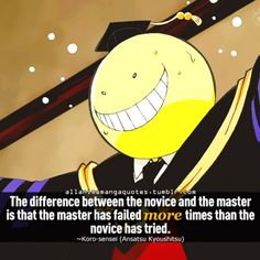 assassination classroom quotes art - Google Search