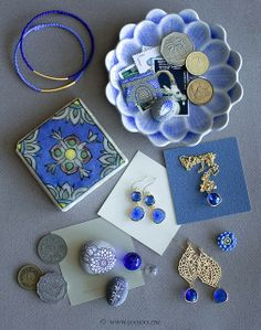 Cobalt blue jewelry by {JooJoo}, via Flickr