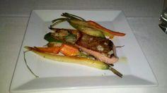 Wild King Salmon and Organic Veggies at Scott's Restaurant - Costa Mesa