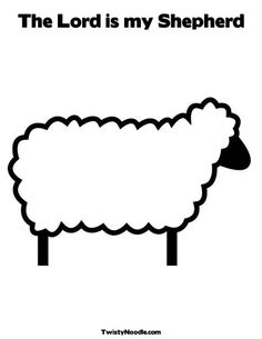 Sheep Coloring Page from TwistyNoodle.com  You can write your own message on the coloring/activity page.