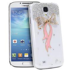 Fosmon GEM Series 3D Ribbon Bling Design Case for Samsung Galaxy S4 IV / i9500 (Clear / Gold & Pink Ribbon) Fosmon Technology http://www.amazon.com/dp/B00DL3VL92/ref=cm_sw_r_pi_dp_FIg-vb1NQ4Q84