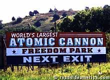 Atomic Cannon sign.