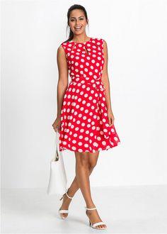 Pöttyös ruha • piros fehér pöttyös • bonprix áruház 8b5ee3eaa8