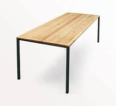 The dk3 Less Is More Table with black steel legs. www.dk3.dk