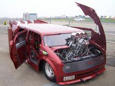 Drag Racing - Tom Richey'sBLASTRO VAN Blown Pro Mod 1985 Chevy AstroVan