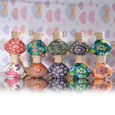 15ml Polymer Clay Small Hanging Empty Perfume Bottle