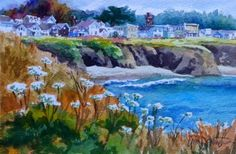 Erin Dertner's Easel Events: West Cliff Panorama