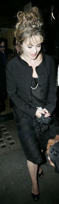 Helena Bonham Carter leaving the Corpse Bride Premiere After Party in Paris | 27 September 2005