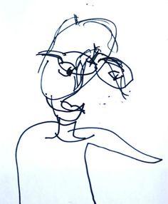 blind contour drawing   Artchoo.com