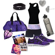 purple workout gear