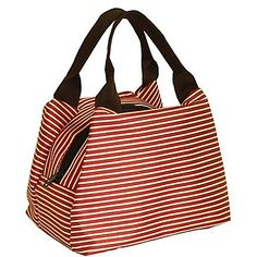 Fashion Stripe Lunch Tote – USD $ 24.99