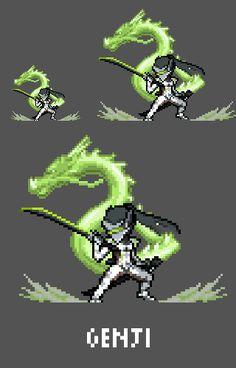 [Pixel Art] - Genji Shimada Overwatch Sprite Twitter:  pic.twitter.com/oFKvdCU5WL