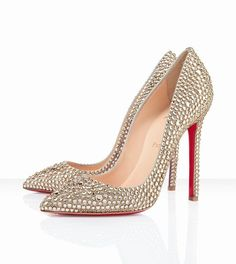 Christian Louboutin Pigalle 120mm Gold -$162