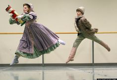 """The Nutcracker"" leads who play the parts of Misha and Marie rehearsing at the National Ballet Centre on Queen's Quay in Toronto on December 4, 2002. (Photo by Steve Russell/Toronto Star via Getty Images)"