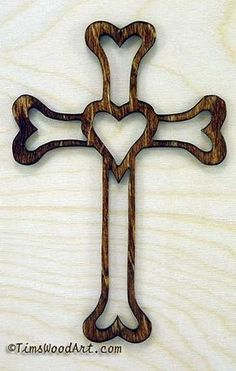 Gods Love Cross, Handmade Wood Cross, for Wall Hanging or Ornament, Item S5-1
