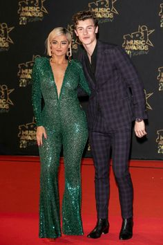 Bebe Rexha and Shawn Mendes arrive at the NRJ Music Awards at Palais des Festivals on November 2018 in Cannes, France. Shawn Mendes Music Video, Palais Des Festivals, Cannes France, Bebe Rexha, Magcon Boys, Demi Lovato, Music Awards, Sexy Outfits, Beautiful People
