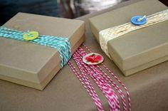 idée emballage cadeau avec baker twine