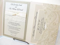 HAYLEY  PAISLEY Lace Wedding Invitation Invite by LavenderPaperie1, $8.75