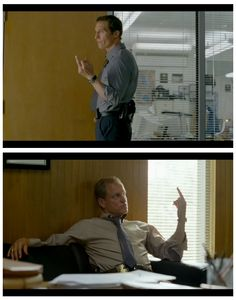 """TRUE DETECTIVE"": Matthew McConaughey as Rust Cohle & Woody Harrelson as Martin Hart"