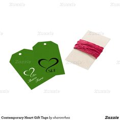 Contemporary Heart Gift Tags - http://www.zazzle.com/contemporary_heart_gift_tags-256882189923949146