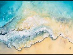 Ocean Waves in Watercolors Painting Demonstration Watercolor Jellyfish, Watercolor Wave, Watercolor Video, Watercolour Tutorials, Watercolor Landscape, Watercolor Paintings, Watercolors, Painting Tutorials, Ink Painting