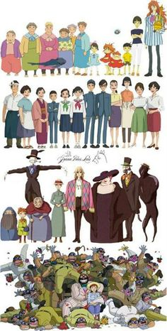 Characters from movies of Studio Ghilbi