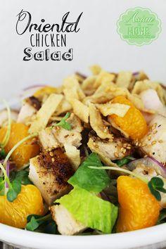 Oriental Chicken Salad : Homemade Oriental Dressing 오리엔탈 치킨샐러드 - Asian at Home