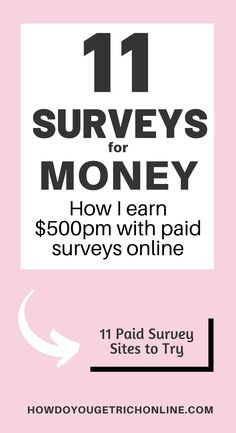 11 Trustworthy Survey Sites to Make Extra Money (Ultimate Guide) Best Online Survey Sites, Survey Websites, Online Surveys That Pay, Survey Sites That Pay, Surveys For Money, Paid Surveys, Extra Cash, Extra Money, Way To Make Money
