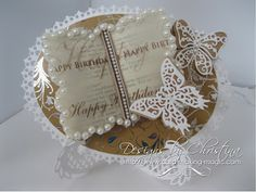 Flowers, Ribbons and Pearls: More Kraft Card ...