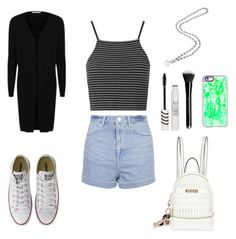 """Untitled #958"" by wali-emna ❤ liked on Polyvore featuring George, Topshop, Converse, River Island and Casetify"