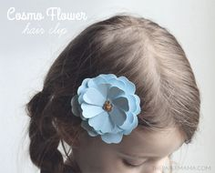 Paper Cosmo Flower Hair Clip