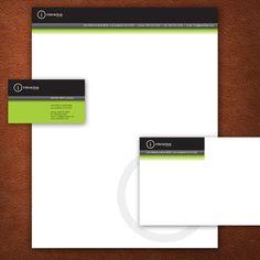 A Black and Green Stationery Set Design. #stationery #design  $29.00