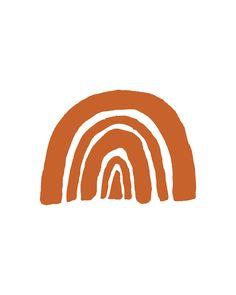 Click to shop this burnt orange rainbow art print from my Etsy shop! #burntorange Orange Wall Art, Orange Walls, Photo Wall Collage, Picture Wall, Chicago Poster, Orange Wallpaper, Rainbow Decorations, Orange Aesthetic, Aesthetic Collage