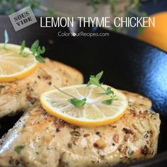 Simple Sous Vide Lemon Thyme Chicken Breast Recipe (3) ~ Color Your Recipes